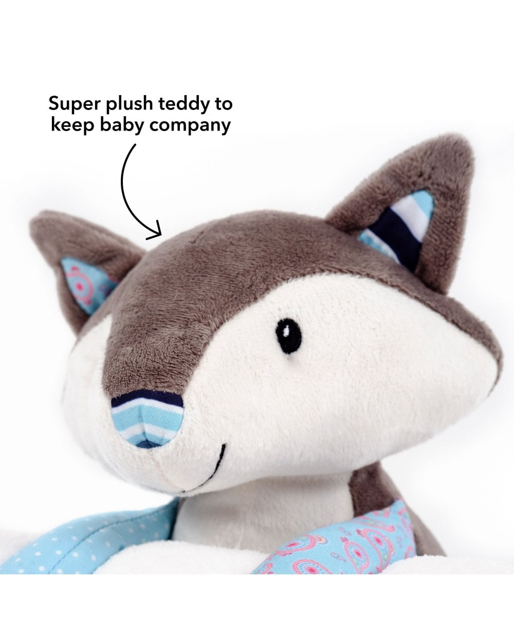 Nuby Little Fox Blanket And Teddy